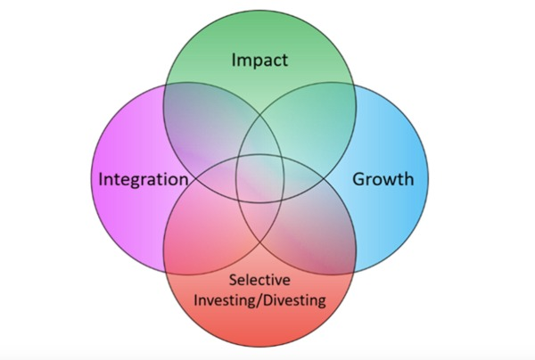 four part venn diagram for sustainable investing